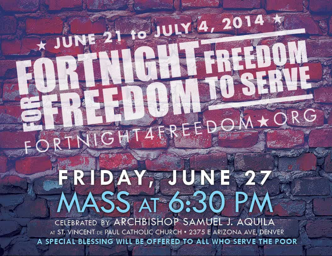 Fortnight4Freedom 2014 flyer