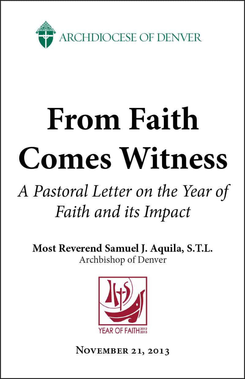 From Faith Comes Witness